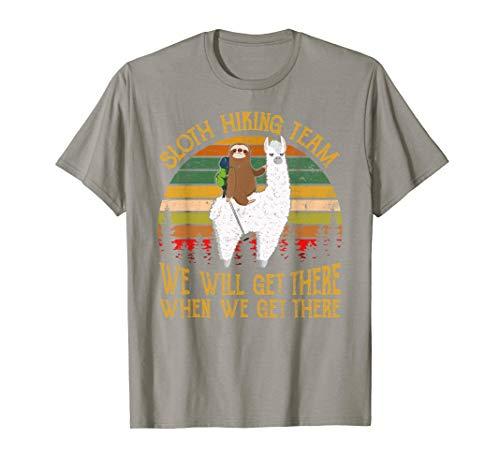 Sloth Hiking Team Tshirt Gift for Hiker Lover Sloth ()