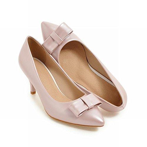 Pumps Damen heels Pink high Mee Geschlossen Shoes elegant wSYqUqxF6