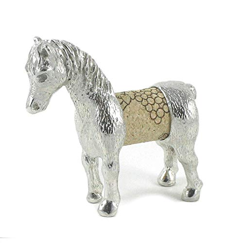 Horse Sculpture Displays Your Wine Cork - Gift Boxed with Story Card - Handcrafted Pewter Made in USA