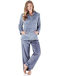 Women's Sleepwear Fleece 2-Piece Loungewear Pajama PJ Set