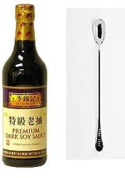 Lee Kum Kee Premium Dark Soy Sauce - 16.9 fl. oz + One NineChef Spoon (1 Bottle)