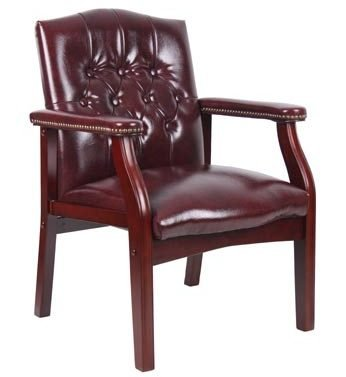 Boss Office Products B959-BY Ivy League Executive Guest Chair in Burgundy