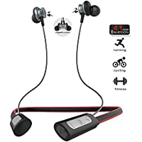 Wireless Headphone, Bluetooth 4.1 Stereo Earphone Magnetic Earbuds with Hi-Fi Stereo Built-in Mic for Sports Workout ( L9 Red)
