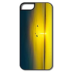 Custom Your Own Cartoon Fit Series Gold Sunset IPhone 5/5s Case For Him