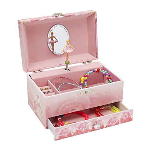 Dancing Ballerina Music (JewelKeeper Music Jewelry Box with Pullout Drawer, Jewel Storage Case, Swan Lake Tune)