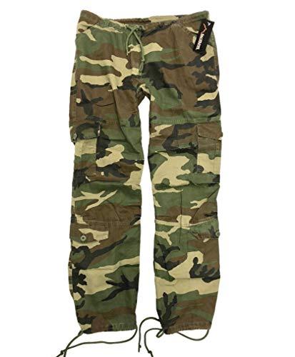 BACKBONE Womens Ladies Army Paratrooper Comfort Loose Low Rise Fatigue Cargo Pants