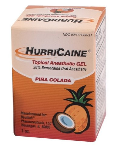 Hurricaine Gel topique anesthésique Pina Colada 1 once
