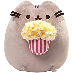 GUND Pusheen Snackables Popcorn Cat Plush Stuffed Animal, Gray, 9.5""