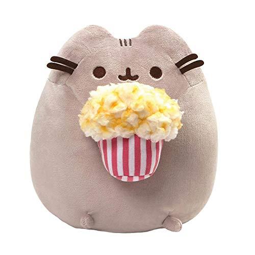 GUND Pusheen Snackables Popcorn Cat Stuffed Plush, Gray, 9.5