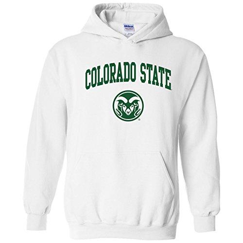 (AH03 - Colorado State Rams Arch Logo Hoodie - Small - White)