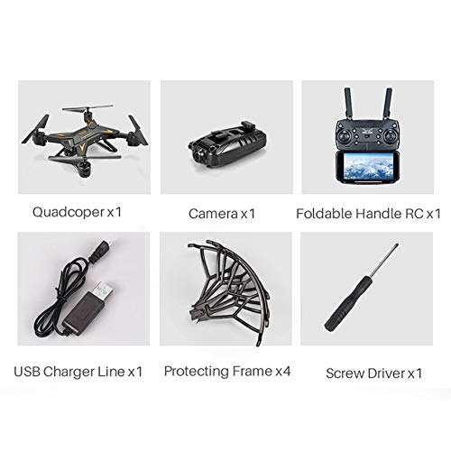 KNOSSOS KY601S Quadcopter Telecomando a Braccio a Lunga Durata a 4 canali - Nero