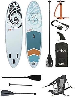 MOAI Sup - Tabla de Paddle Surf Hinchable (320 x 81 x 15 cm ...