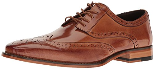 STACY ADAMS Men's Tinsley - Wingtip Oxford Tan, 13 M US - Fully Padded Insole