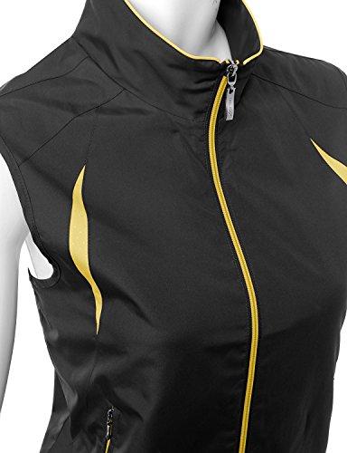 Xpril 2-Tone All Weather Proof Vest Black Size L by Xpril (Image #3)