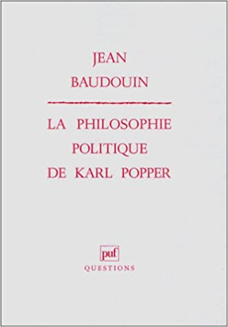 La Philosophie Politique De Karl Popper Amazon Fr Jean