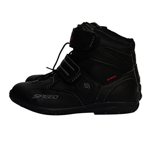 D DOLITY Pair Comfortable Anti-collision Motorcycle Short Ankle Boots Riding Sports Shoes Black 42