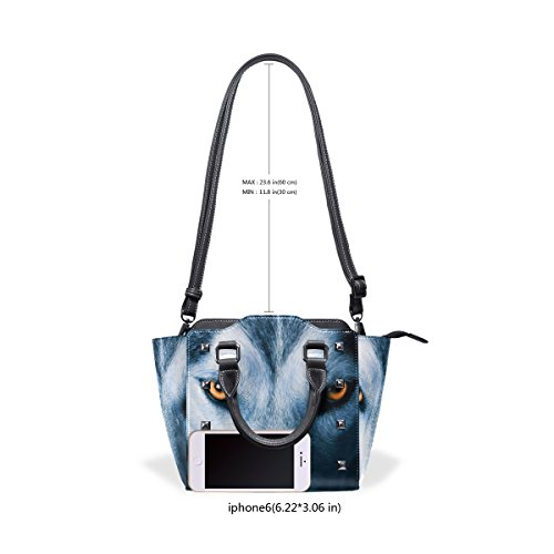 Bags Tote TIZORAX Shoulder TIZORAX Cool Handbags Women's Wolf Cool Leather Y7nf8vqAW