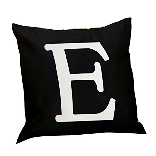 bjduck99 LED Light Up Letter Print Throw Pillow Case Cushion Cover Living Room Sofa Decor ()
