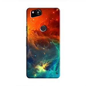 Cover It Up - Blue Vs Red space Cloud Pixel 2 Hard case
