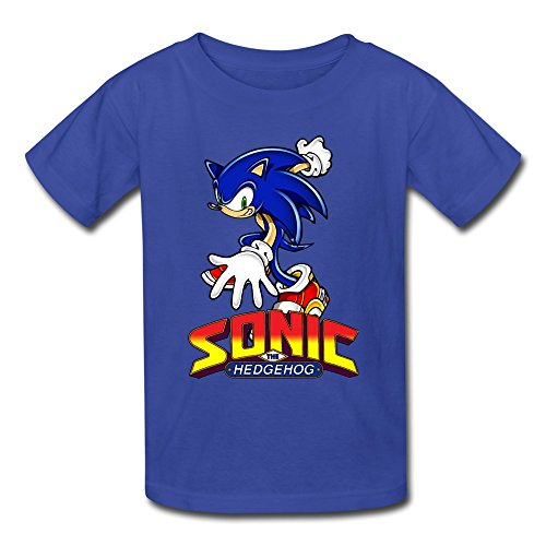 AOPO Sonic The Hedgehog ACT Tshirts For Kids Unisex Medium RoyalBlue (Halloween Costumes Houston Stores)