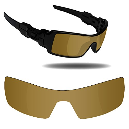 Fiskr Anti-Saltwater Replacement Lenses for Oakley Oil Rig Sunglasses - Various Colors (Bronze Gold - Anti4s Mirror Polarized, 0) ()