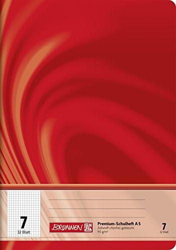 Brunnen 104550702 Schulheft A5 Vivendi (32 Blatt, 7 mm kariert, Lineatur 7)
