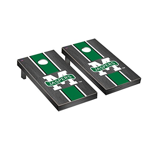 Victory Tailgate Manhattan Jaspers Regulation Cornhole Game Set Onyx Stained Stripe ()