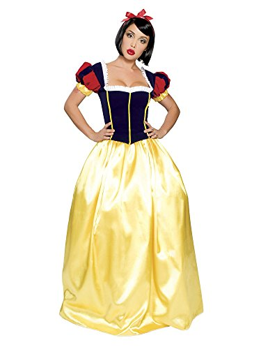 Deluxe Snow Adult Costume - Small/Medium (Classic Snow White Plus Size Costumes)
