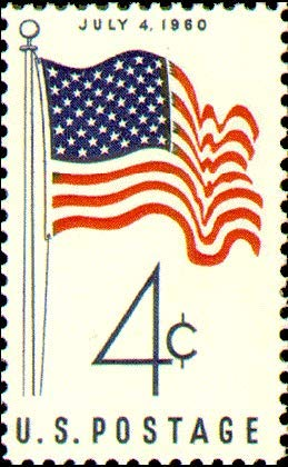 Postage Stamps, U.S. 4th Of July Flag 1960 Scott 1153 MNH