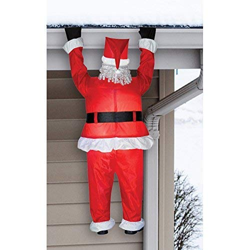 Gemmy 83662 Airblown Santa Hanging from Roof Christmas Inflatable 6.5FT TALL -