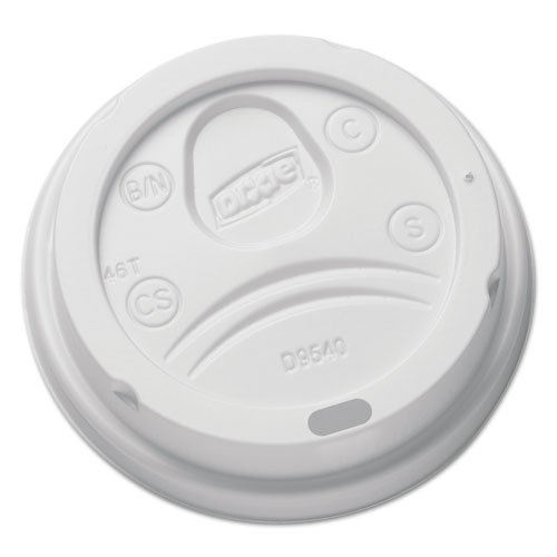 Dixie - Sip-Through Dome Hot Drink Lids for 10 oz Cups, White, 100/Pack DL9540 (DMi PK ()