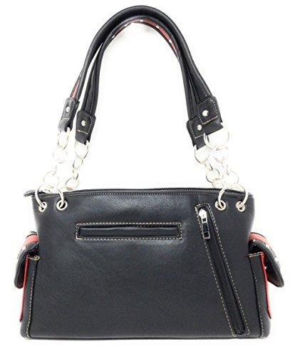 Western Carry American White Usa Flag Concealed purse Women's Handbag Rhinestone r5qUra