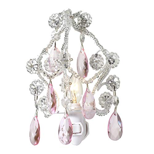Chandelier Style Night Light with Pink