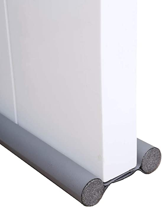 THUMBGEEK 2 Pieces Door Bottom/Window Draft Stoppers Double Sided-No Repositioning Windproof, Dustproof and Soundproof, Keep Warm in Winter, and Keep Your Room Cooler in Summer