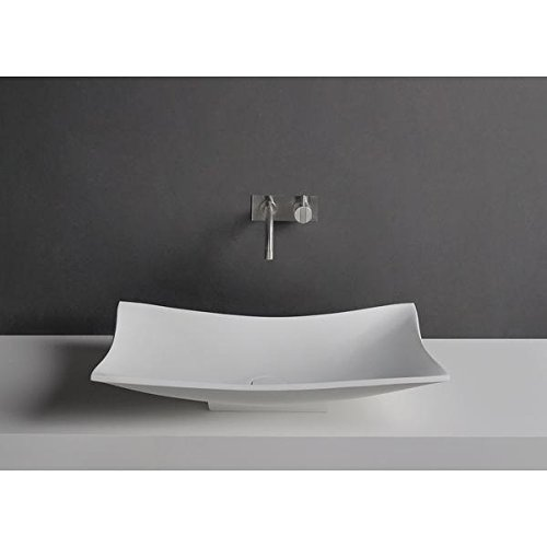 ID Tray Rectangular Solid Surface Vessel Sink Bowl Above Counter Sink Lavatory by ID Bath Collection