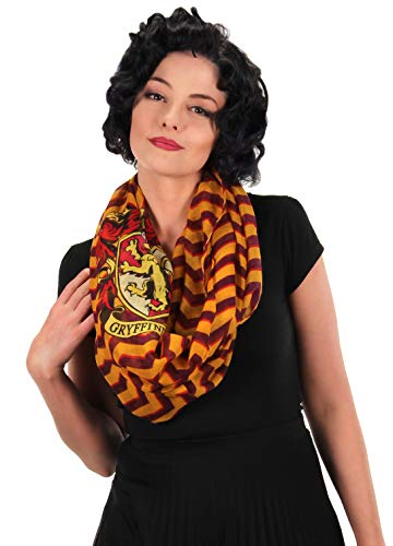 elope Harry Potter Gryffindor Infinity Scarf for Women Red]()