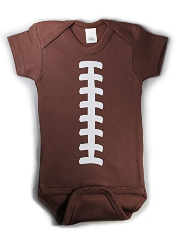 Baby Football One Piece Bodysuit Outfit Brown Unisex (12-18 (Baby Costume Football Player)