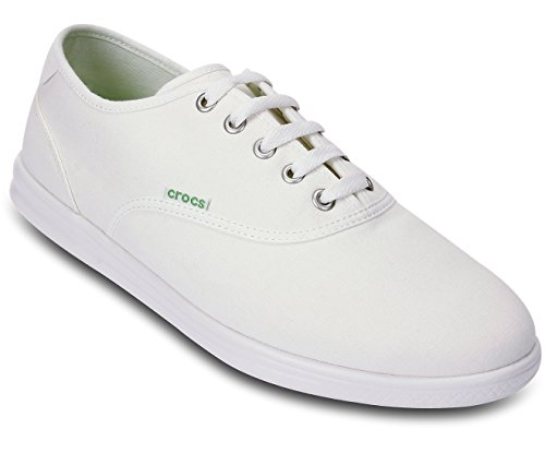 crocs LoPro Canvas Plim Sneaker Men - Caña baja de lona hombre blanco - Weiß (White/White)