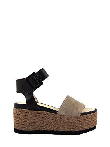 ESPADRILLAS - Sandalias de vestir de Piel para mujer Beige