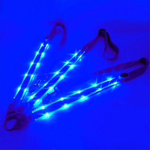 BININBOX LED Horse Breastplate Collar Equestrian Riding Bridle Halter Safety Light Horses Neck Belt Equipment Horsing Accessory Horseback (Halter Plate)