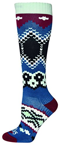 Hot Chillys Womens Socks - Hot Chillys Women's Wonderland Mid Volume Socks, Blue, Medium