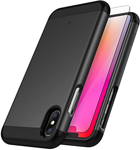 Caseology [Savoy Series] iPhone Xs/iPhone X Case - [Stylish Design] - Black