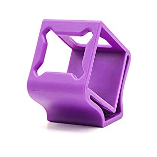TCMMRC Mold Open Rubber Camera Protector Mount Case Seat 30° for FPV Racing Drone Quadcopter Frame (Purple)