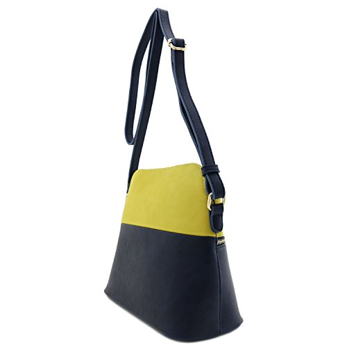 Accent Bag Dome Tassel Yellow Navy Medium Crossbody wxHn04PR