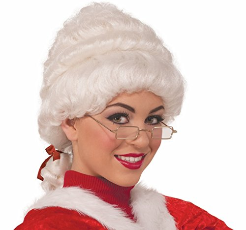 Faerynicethings Adult size Deluxe Mrs. Santa Claus Wig - Christmas Holiday Wear (Deluxe Wig Santa Mrs)