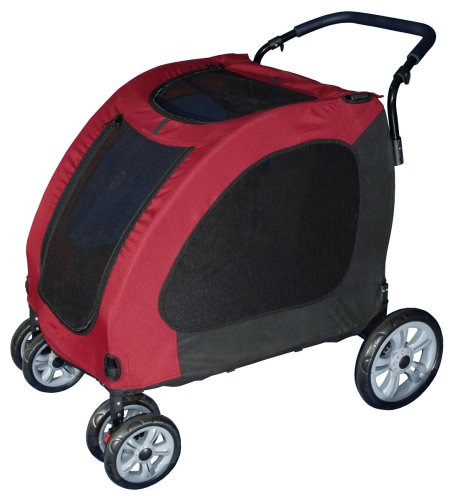 Pet Gear Expedition Pet Stroller for cats and dogs up to 150-pounds, Burgundy, My Pet Supplies