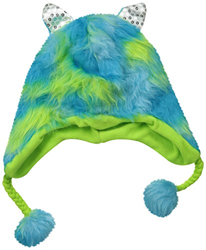 Accessories 22 Big Girls'  Tinsel Fur Heidi Hat with Ears Blue, Multi, One - 22 Size Hat