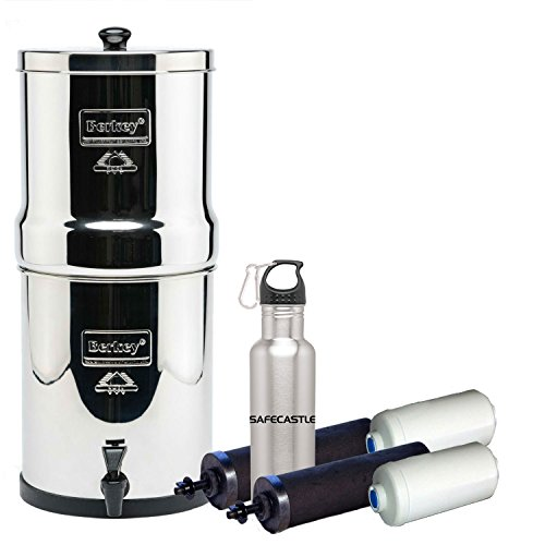 Nobility Berkey Water Filter System w/ 2 Black Purifier Filters (3 Gallons) Bundled w/ 1-set of Fluoride Filters (PF2)
