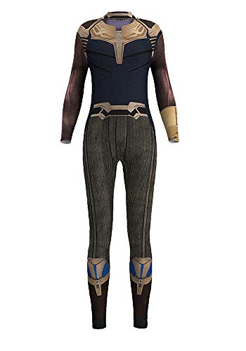 Honeystore Women's Halloween Skeleton Catsuit Costume 3D Stretch Skinny Bodysuit bds-97011 S