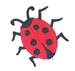 Pequeño tamaño señorita Bug dibujos bordados coser hierro sobre bordado Applique Craft hecho a mano bebé niña ropa de mujer DIY disfraz accesorios: ...